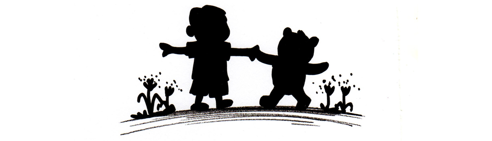 Boy and Bear silhouette